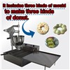 Wider Oil Tank Hot Electric Donut Machine, Donut Fryer Maker with Three Sets Moulds, Frying Temperature Controlled