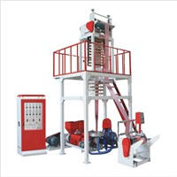 Double Screw Double Color Film Blowing Machine