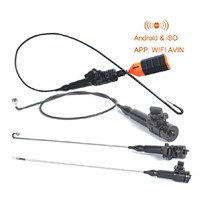 13.8mm WiFi Articulating Flexible Borescope Inspection Camera