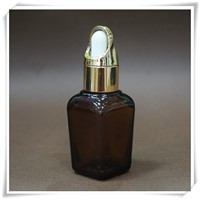 Square Amber 30ml Glass Essential Oil Bottle with Dropper