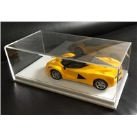 New Design Acrylic Model Car Display Box Perspex Toy Display Case W/ PU Bottom