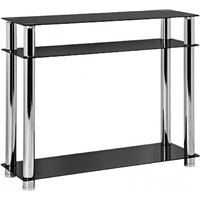 Black & Clear Glass Console Table