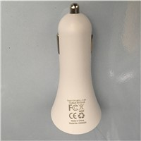 15W OEM/ODM Customized Design in-Car Charger, USB Output Type or Power Cord Output Type