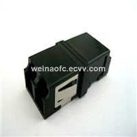 Fiber Adapter LC-LC Duplex SC Footprint Black with Reduced Flange