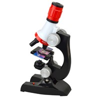 Kids Educational Microscope Kit Lab LED 100X-1200X Home School Educational Toy Gift for Kids Boys
