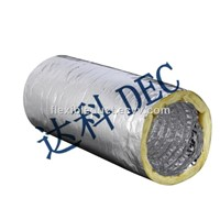 Thermal Resistance 8 Inch Insulated Ducting Special Design Insulated Flexible Duct for HVAC Systems