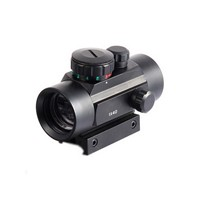 1X40 Tactical Compact Reflex Air Airsoft Pistol Rifle Scope with 11/20Mm Rail Mounts for Green Red Shotgun Dot Sights