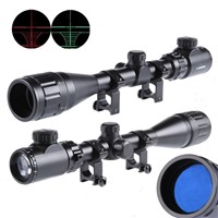 4-16X40 AOEG Long Range Tactical Telescopic Air Airsoft Sniper Shotgun Rifle Scopes with Red Green Illuminated Sights