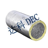 Mater Flow Silver Jacket 8''X10m Acoustic & Thermal Flexible Aluminum Foil Air Duct for HVAC Systems