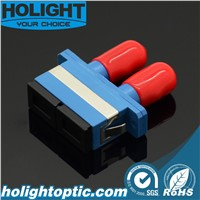 Fiber Adaptor Sc To St Duplex Sm Blue with Flange