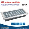Garden Parking Lot Stair Buried White Blue Green Underground Outdoor Driveway Lamp 28W 36W LED Recessed Ground Light