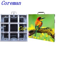 Coreman Slim Rental Cabinet P6 Rental LED Screen Monitor / Outdoor LED Screen Rental Wall P2.5 P3 P4 P5 P6 P8 P10