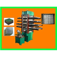 Rubber Tile Hydraulic Press with Rubber Mould