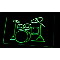 LS056-g My Band Room Drum Music Instruments Light Sign