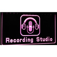 LS189-g Recording Studio Microphone Bar Neon Light Sign