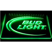 LS006-g Bud Lite Beer Bar Pub Club Logo Neon Light Signs