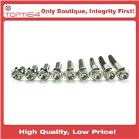 GR5 6Al-4V M8 Titanium Hex Head Flange Bolt, 20 25 30 35 40mm CNC Machined 1.25mm Pitch