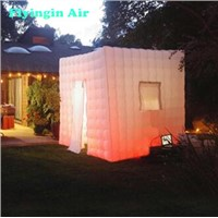 2.2m LED Inflatable Cube Photo Booth with Logo for Party & Advertisement
