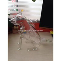 Borosilicate Handicraft Glass Dog Shaped Glass Wine Bottle