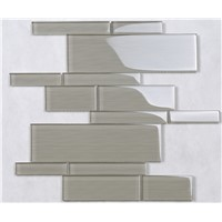 HYM100 Well-Designed Crystal Glass Brick Tiles for Back Splash