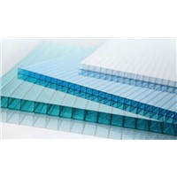 Hollow Polycarbonate Sunlight Sheet Panel Board Customized Size for Canopy