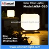 Squared Virginal Lily White Solar Pillar Lights Solar Chapiter Lamp Solar Column Fence Lighting