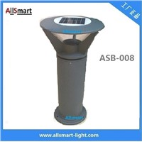 Aluminum H60cm Solar Bollard LED Lighting Solar Parking Lot Pathway Light Solar Garden Lawn Lights Solar Sensor Lights