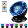 Remote Control Ocean Wave Projector 12 LED 7 Colors Night Light with Mini Music Player for Living Room & Bedroom