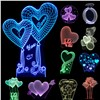Valentines Day Gift 3D Lamp LED Night Light 7 Colors Table Lampe Deco Bulb Touch Sensor