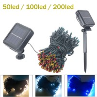 200 LED Solar Lamps LED String Fairy Lights Garland Christmas Solar Lights for Wedding Garden Party Decoration Outdoor