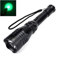 LED Hunting Flashlight Torch Hight Power Cree Torch Cree Green Red Light Lantern 1-Mode Waterproof for 1x18650