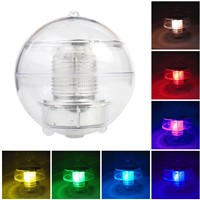 LED Solar Lamp Outdoor RGB Solar Power Globe Water Floating Light Color Changing Auto Decoration Night Spotlight