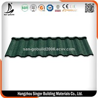 Hot Sale UV Resistant Construction Building Material for Villa House Roofing Color Stone Coated Step Metal Roof Tiles