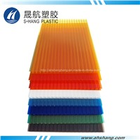 Twin-Wall Polycarbonate Hollow Sheet with UV Protection