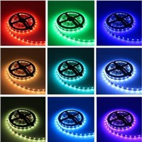 RGB Strip RGB LED Strip Light 60led/m Led Tape Light 4m 5m 10m SMD5050 DC12V Power Adapter 44keys Controller