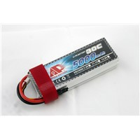 5000mAh 11.1V 30C Rechargeable Lithium Polymer Battery for RC Airplanes