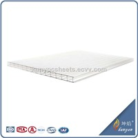 100% Bayer Material Twin Wall PC Hollow Sheet
