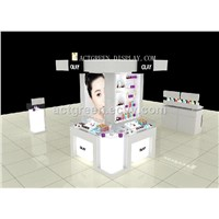 Cosmetic Island for Cosmetic, Jewelry, Watches, Glasses, Bags Large Cosmetic Exhibition with LED, Logo & Poster