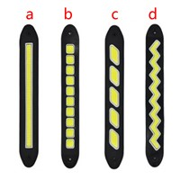 Car Styling 2pcs Daytime Running Lights Waterproof COB Day Time Working Lights Flexible LED DRL Driving Lamp