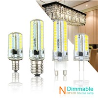 LED Light G9 G4 LED Bulb E11 E12 14 E17 G8 Dimmable Lamps 110V 220V Spotlight Bulbs 3014 SMD 64 152 Leds Sillcone Body