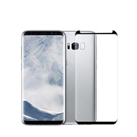 Case-Friendly S8 Glass Screen Protector Silk Printing Tempered Glass for Galaxy S8 Case-Compatible