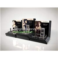 Cosmetic Countertop Acrylic Display Popular Cosmetic Display Design with LED