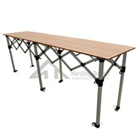 Folding Table with Wooden Top