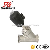 SS304 Air Operated Clamped Angle Seat Valve Fit for Milk Filling Machine