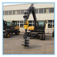 Excavator Backhoe Attachment Hydraulic Earth Auger Drill/Buy Screw Auger Drill/Hole Digging Machine