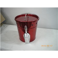 Metal Ice Bucket with Spoon