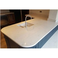 Quartz Stone Bench Top, Quartz Stone Dining Table Top with One Bowl