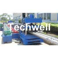 15KW Highway Guardrail Roll Forming Machine with 7 Rollers Leveling For W Beam Guardrail