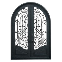 Xiamen Luxurious Round Top Iron Security Entry Door (JDL-1015)