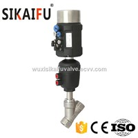 Factory Wholesale Dn32 Stainless Steel Thread Pneumatic Angle Seat Valve with Positioner 4-20mA